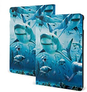 Shark IPad 7th Generation Case IPad 10.2 Case Slim Stand Hard Back Shell Protective Smart Cover Case with Auto Wake Sleep