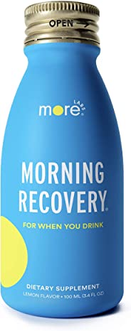 Morning Recovery: Patent-Pending Hangover Prevention Drink (Pack of 6) - New & Improved Original Lemon Flavor - Highly Bioava