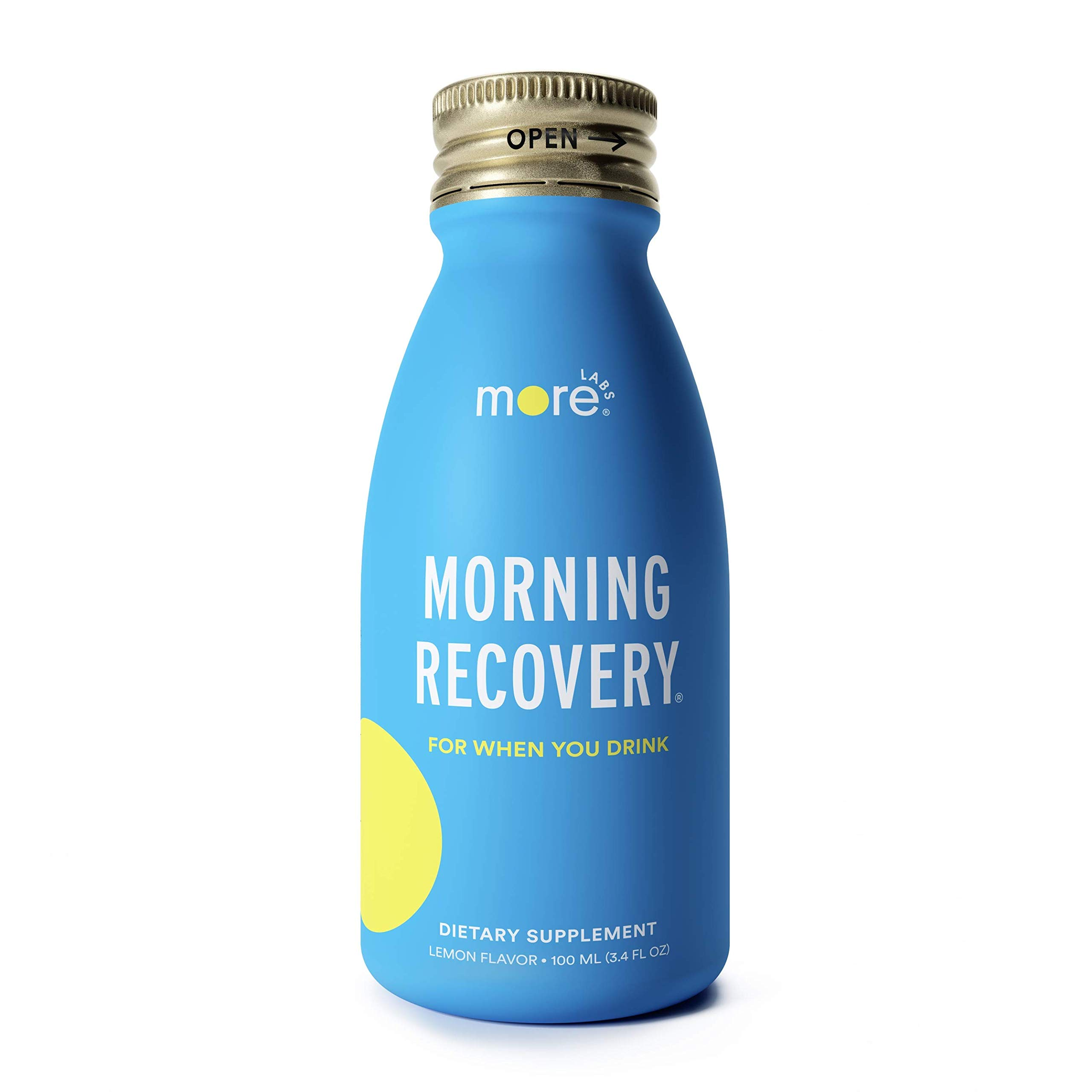 Morning Recovery: Patent-Pending Hangover Prevention Drink (Pack of 6) - New & Improved Original Lemon Flavor - Highly Bioavailable Liquid DHM, Milk Thistle, Electrolytes - No Artificial Flavors by Morning Recovery