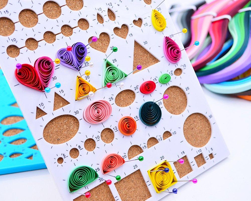 kanggest 260pcs Quilling Paper Strips Strisce di carta filigrana in 26/colori per l artigianato fai da te e arte di carta 10/mm * 39/cm