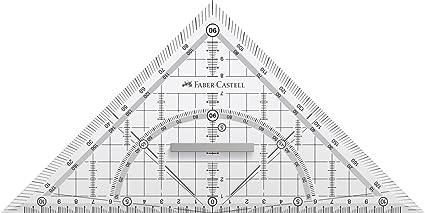 Squadre Per Disegno Tecnico.Faber Castell 171010 Grip Squadra Per Disegno Tecnico Con