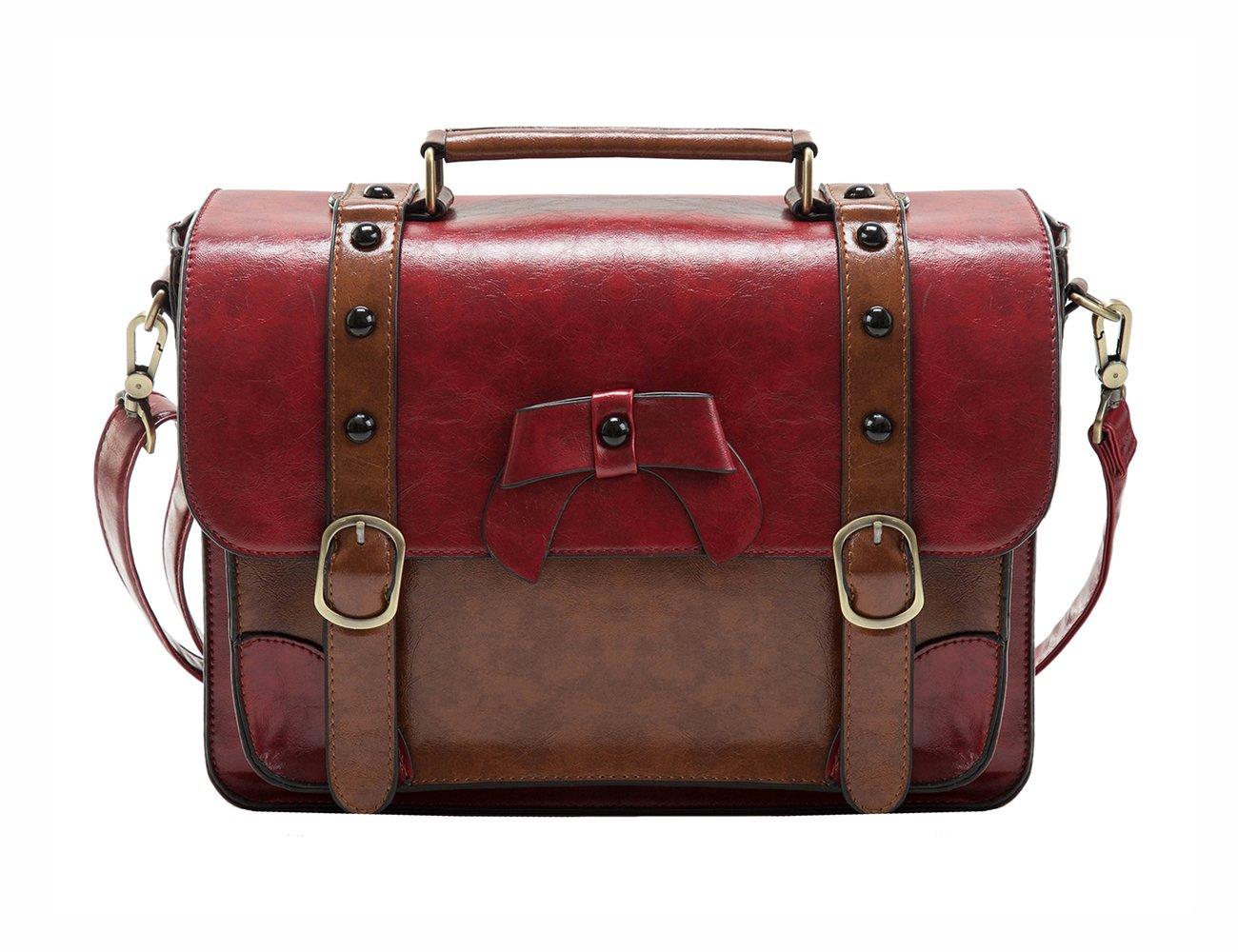 e559a85d6b ECOSUSI Sac Bandoulière pour Femme Sac à Main Rétro Sac Porté épaule  Vintage (Rouge), Rouge 1,