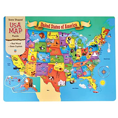 MasterPieces USA 44 Piece Wood Map Puzzle: Toys & Games