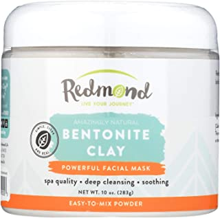 product image for Redmond Clay - Bentonite Clay of 1000 Uses, Soothing Facial Mask, 10 Ounce (4 Pack)