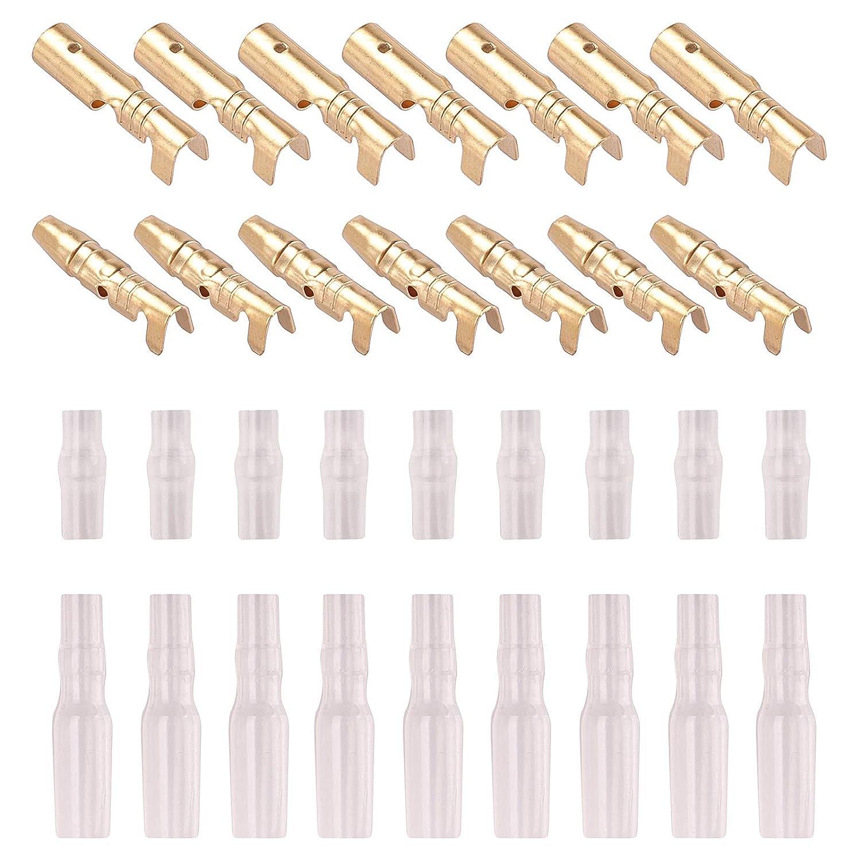 Kinstecks 120PCS Kit de Conectores de Bala de 3.5 mm Conector de terminales de Cable Macho y Hembra de Bala de lat/ón con Cubierta de Aislamiento