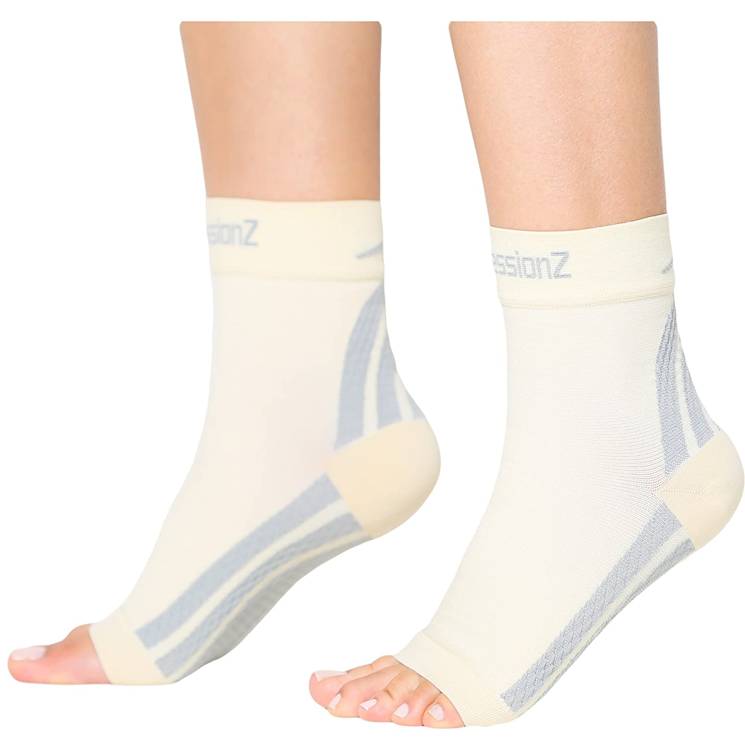 Foot Sleeves (1 Pair -L) Best Plantar Fasciitis Compression for Men & Women - Heel Arch Support/ Ankle Sock CompressionZ 7.88E+11