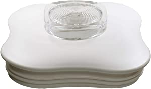 Blender Lid and Center Cap for Clover Leaf Shaped Oster Blender Jars, White