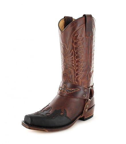 Für Sendra Herren Bikerstiefel Damen 7862 Tang Chocolate Braun Lederstiefel Boots Marron Und 1cTFlKJ