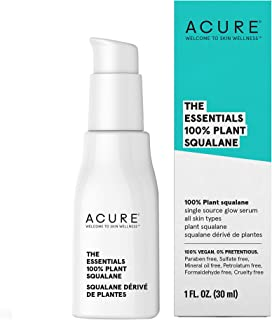 product image for Acure The Essentials 100% Plant Squalane Oil | 100% Vegan | Versatile - For Any Skin & Hair Care Regimen | Single Source Glow Serum | All Skin Types | 1 Fl Oz