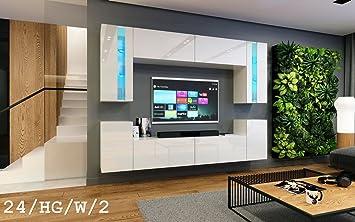 Hervorragend HomeDirectLTD Wohnwand Future 24 Moderne Wohnwand, Exklusive Mediamöbel,  TV Schrank, Neue Garnitur