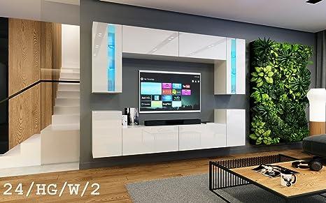 HomeDirectLTD Wohnwand Future 24 Moderne Exklusive Mediamobel TV Schrank Neue Garnitur