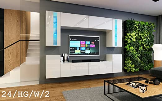 Homedirectltd Wohnwand Future 24 Moderne Wohnwand Exklusive