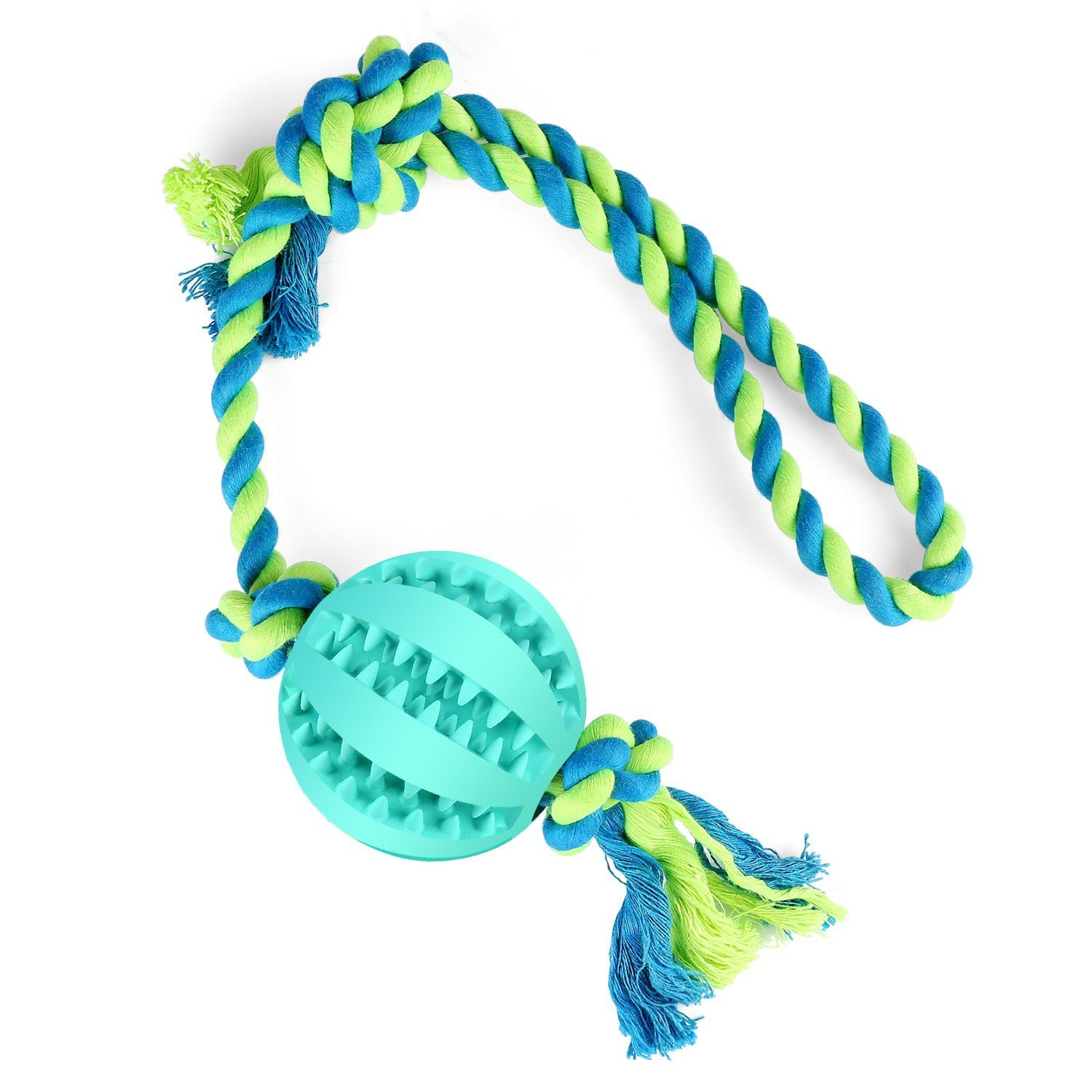 Dog Tug Toys - Tug Rope with Handles Easy for Interaction, Dog Chew Toy for Aggressive Chewers, Suitable for Large Medium Small Dogs (Blue)
