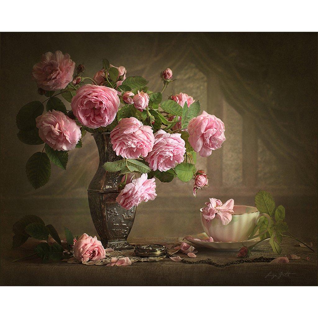 KaiDeng Unframed Retro Blumenvase Digital ?lgem?lde Auf Leinwand DIY Malen Nach Anzahl Decor