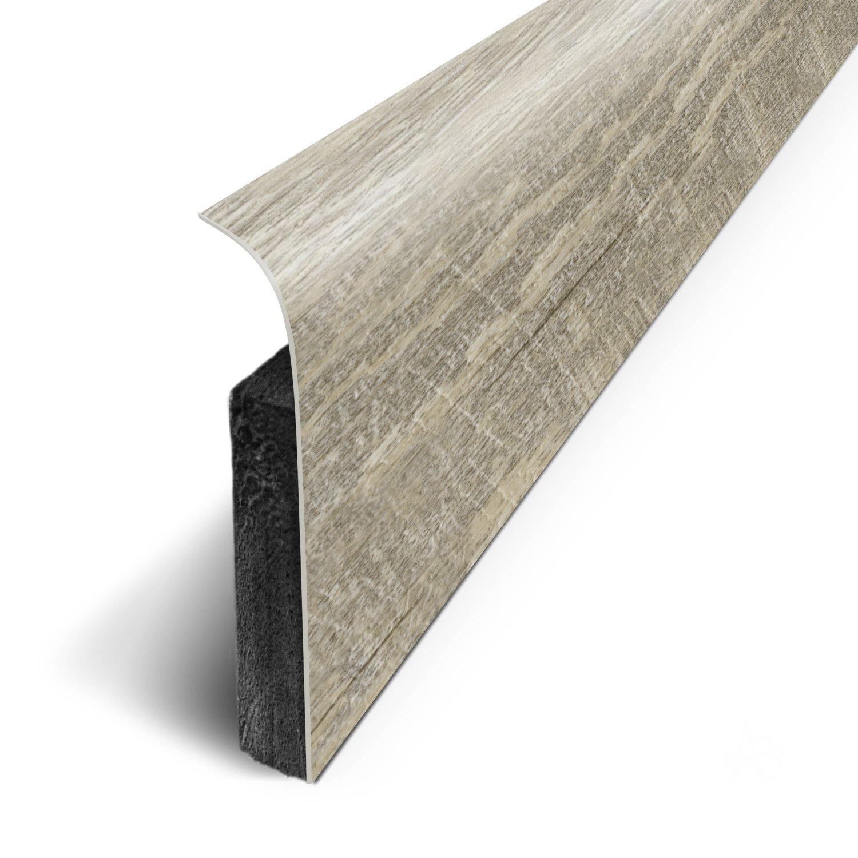 1.1cm Long.120 cm x Haut.7 cm x Ep lot de 5 Plinthes Adh/ésives 3M Ref: D180504D - Pin Sci/é Blanc