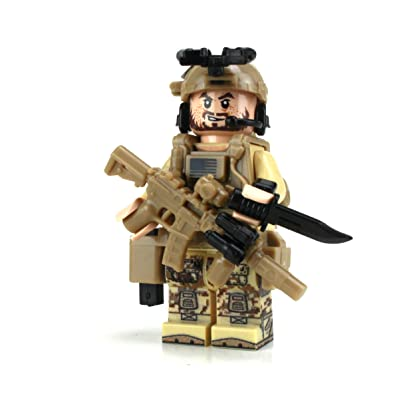 Battle Brick Seal Team Six Commando (SKU47) Custom (1 Minifigure): Toys & Games