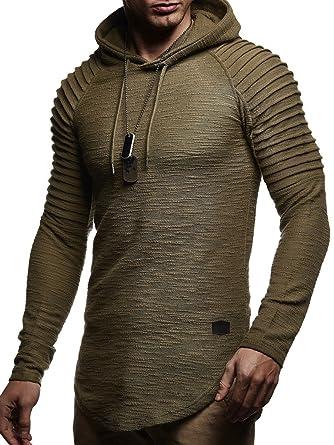 Leif Nelson Mens Pullover Hoodie Long Sleeve t Shirt Sweater Slim fit Sweatshirt