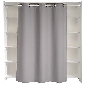 Store Kit d\'aménagement de placard avec rideau L184cm: Amazon.fr ...