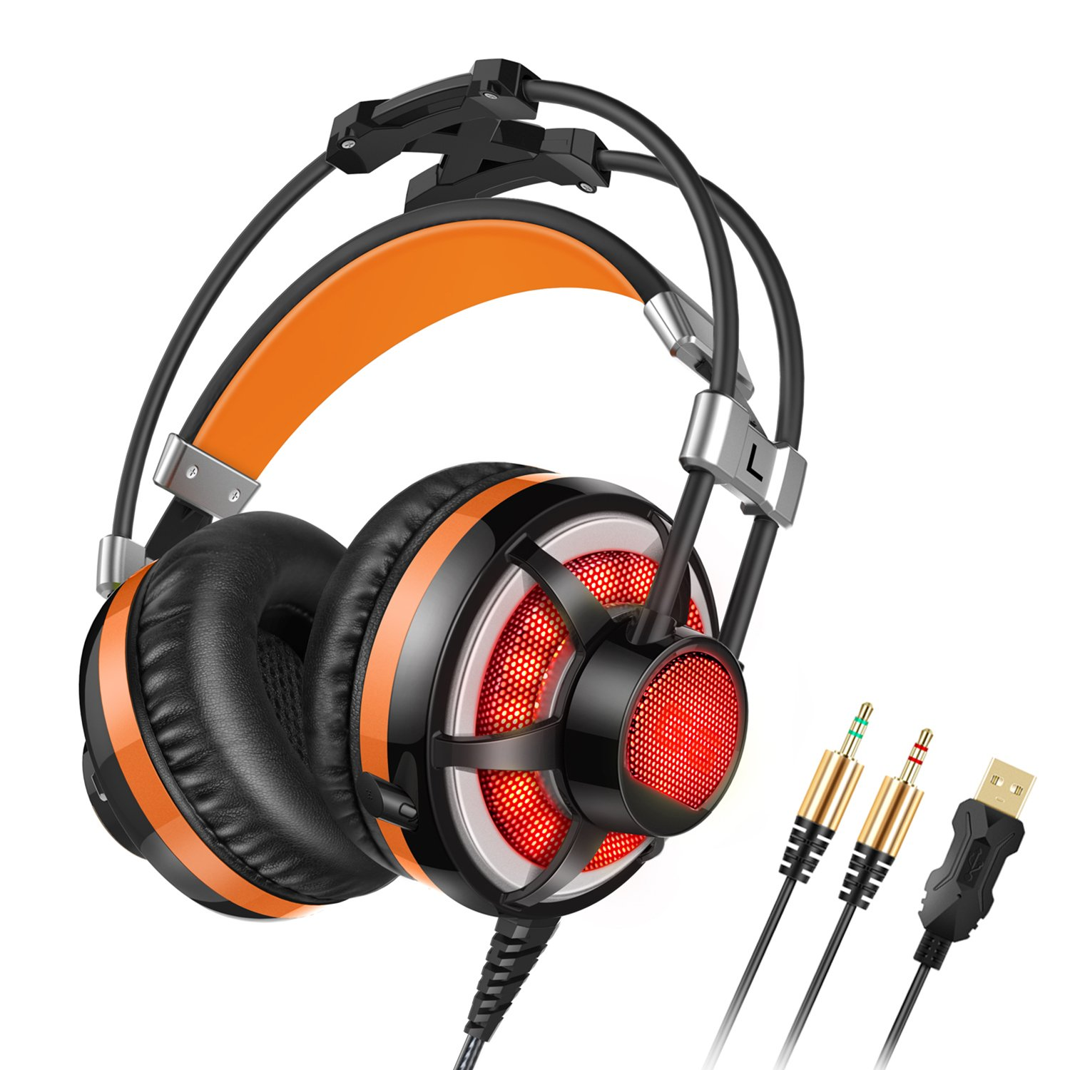 On Sale Honstek G6 Pc Gaming Headset Over Ear Led With Microphone Philips Headphone Shm1900