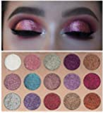 Beauty Glzaed 15 Colours Glitter Make-up Powder Metallic Shimmer Eye Shadow Palette Highly Pigmented Mineral Cosmetic…