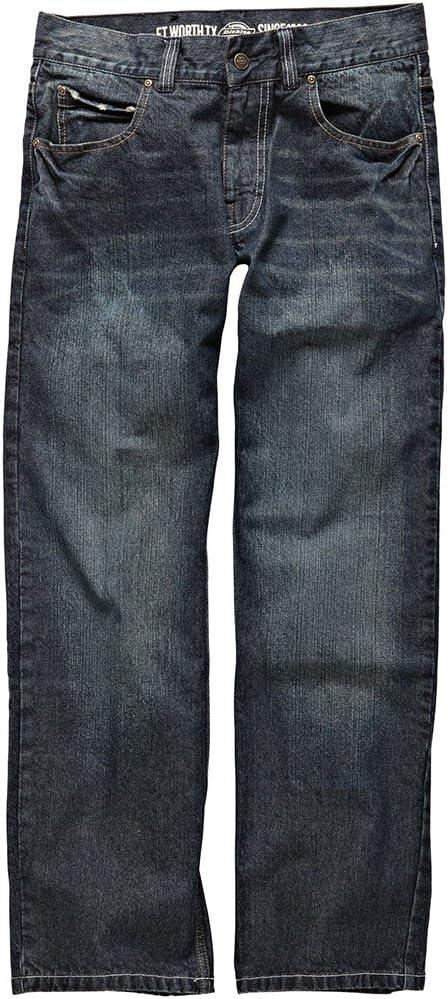 Dickies Boston Jeans WD1000 - Pantalones de trabajo (lavado a piedra) 60 azul vaquero