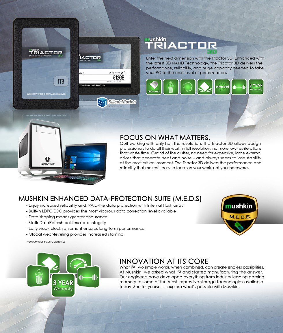 Mushkin TRIACTOR-3DL - 120GB Internal Solid State Drive (SSD) - 2.5 Inch - SATA III - 6Gb/s - 3D Vertical TLC - 7mm (MKNSSDTR120GB-3DL) by Mushkin (Image #8)