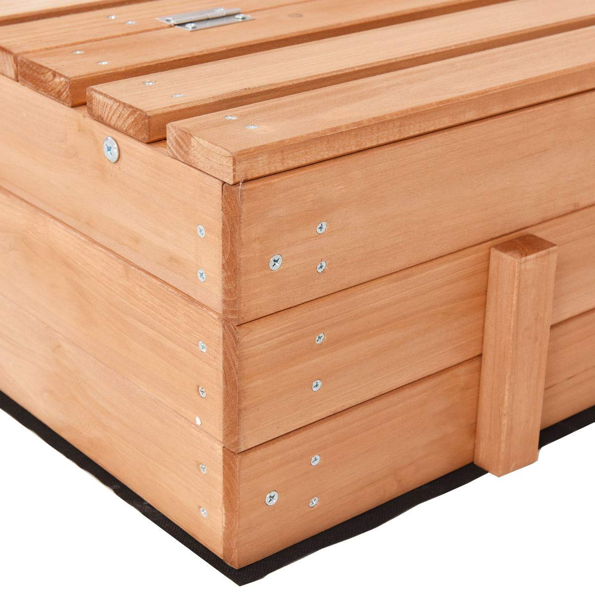 USA_BEST_SELLER Children Outdoor Foldable Retractable Sandbox Bench Seat Box by USA_BEST_SELLER (Image #9)