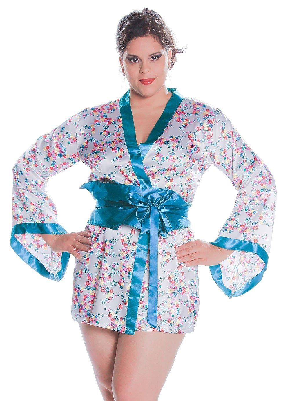 Amazon.com: Disfraz de Geisha mujer a corto kimono Robe ...