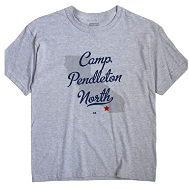 Greatcitees Camp Pendleton North California Ca Map Unisex Souvenir T