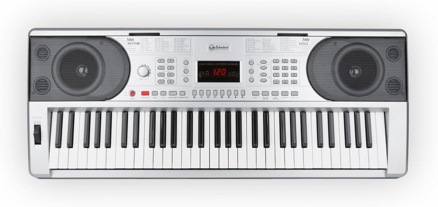 Schubert Etude 300 Teclado Electrónico de 61 Teclas, 300 Voces ...