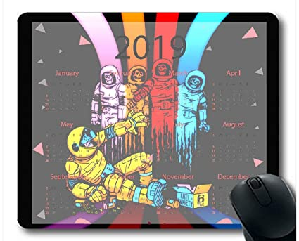 Amazon com : Flying Pig Man 2019 Calendar Pads, Astronaut