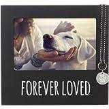 Pearhead Forever Loved Pet Memorial Collar Tag Frame, Pet Loss, Black