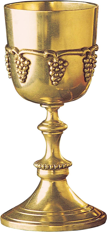 Design Toscano TV8747 Grape Harvest Wine Goblet, 7 Inch, Faux Gold