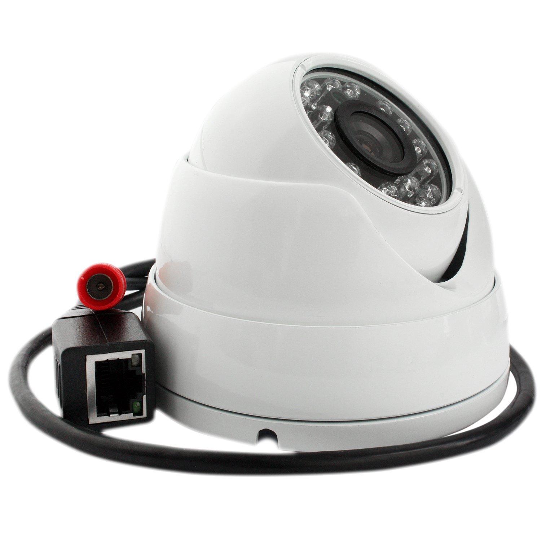 ELP 720P Mini IR LED Day&Night HD Dome IP Camera, Dome Network Camera [並行輸入品] B01NAISSF3