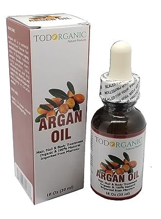 Aceite Marroquí de Argán - 100% Puro y Orgánico del USDA Para El Pelo,