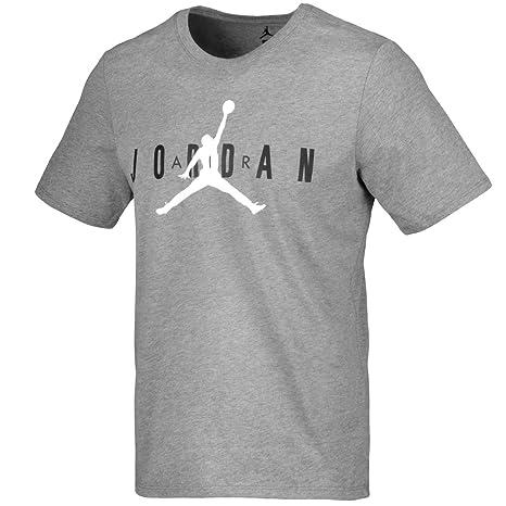 sports shoes e752c 6893a Nike M JSW Tee Jordan Air GX, T Shirt Uomo, Carbon Heather White