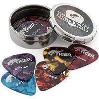 Tiger GAC14 10 - Púas para guitarra en caja, colores surtidos
