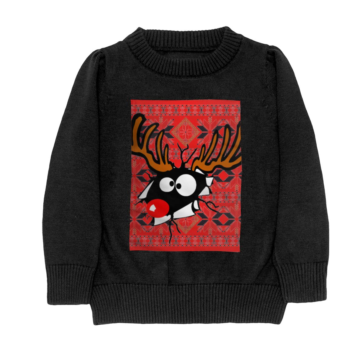 Moniery Christmas Deer Knit Sweater Pullover for Teens Girls