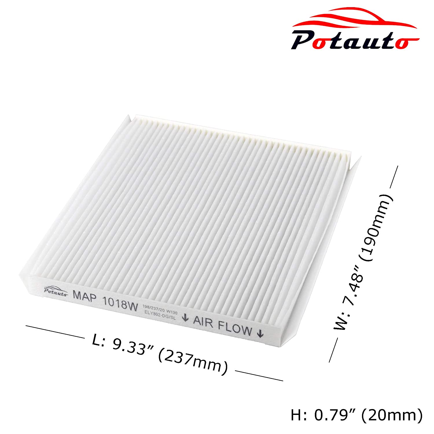 POTAUTO MAP 1018W Cabin Air Filter Replacement compatible with HYUNDAI Forte Elantra KIA Accent