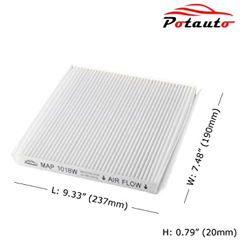 amazon com potauto map 1018w cabin air filter replacement