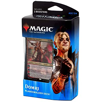 Magic The Gathering: MTG: Ravnica Allegiance Planeswalker Deck - Domri (Red/Green) w/Two Booster Packs: Toys & Games
