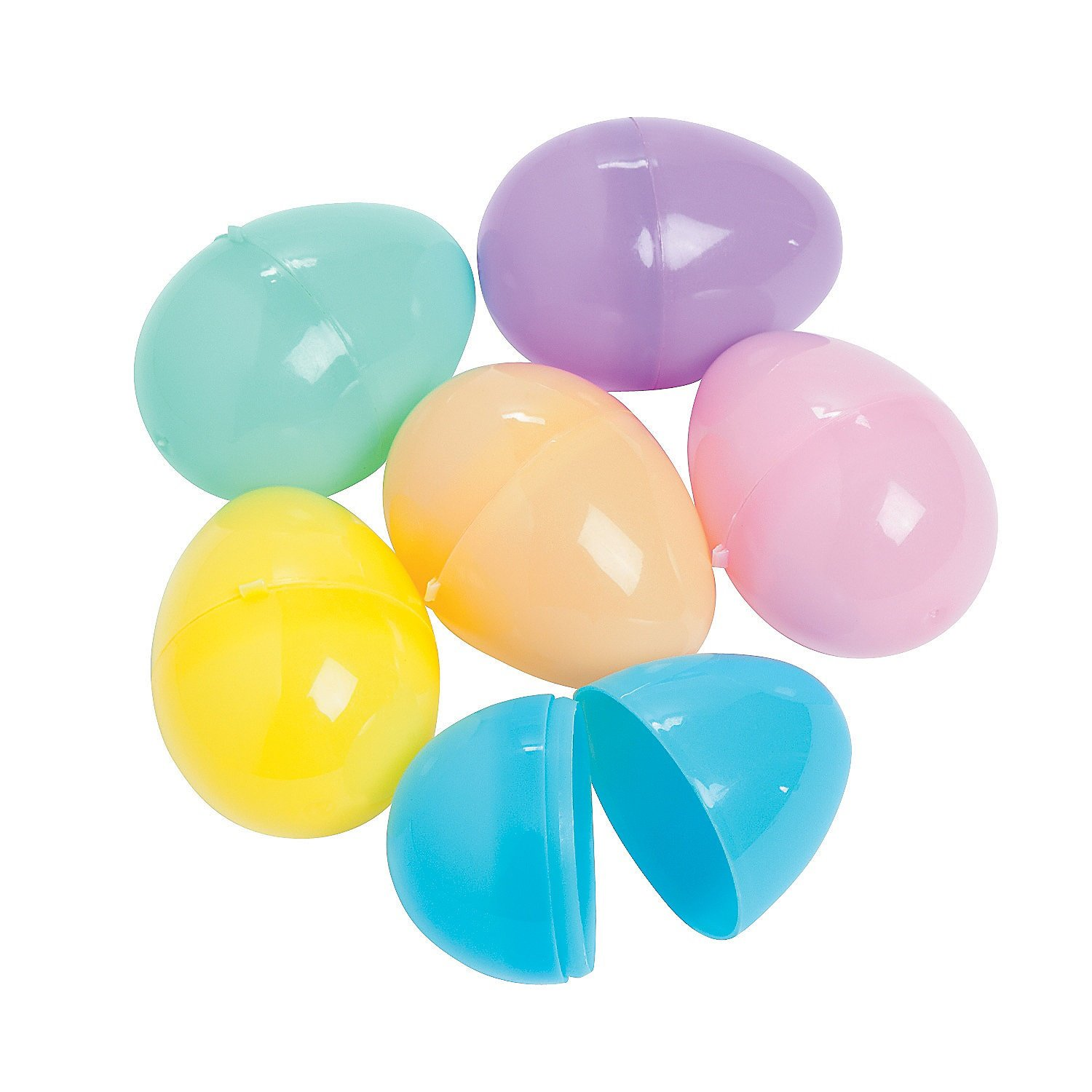 Fill Them Or Hide Them for Hunt Fun Express Pastel Easter Eggs Assorted Value 144 2 Eggs