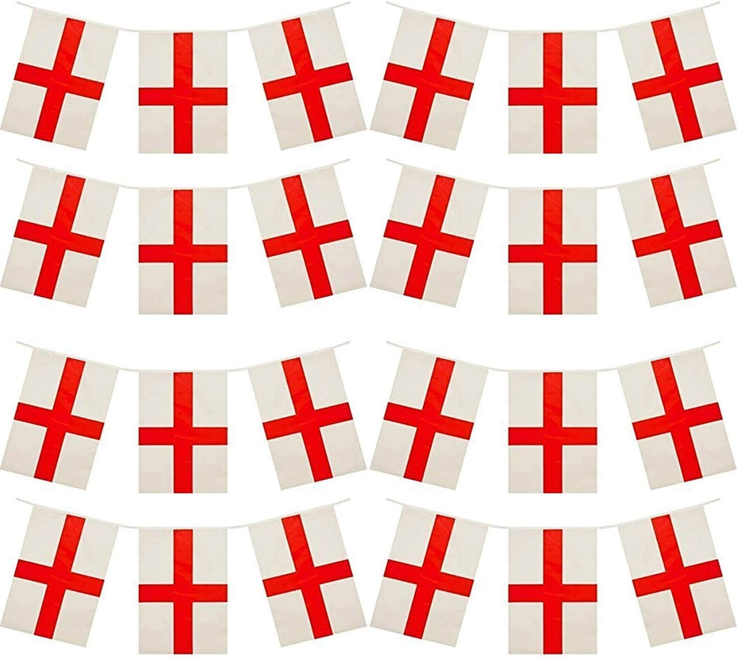 St Georges day bunting ** England ** Red and White 10 mtr