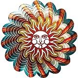 Iron Stop Designer Sun Blue Wind Spinner