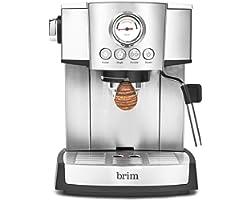 Brim 15 Bar Espresso Machine, Fast Heating Cappuccino, Americano, Latte and Espresso Maker, Milk Steamer and Frother, Removab