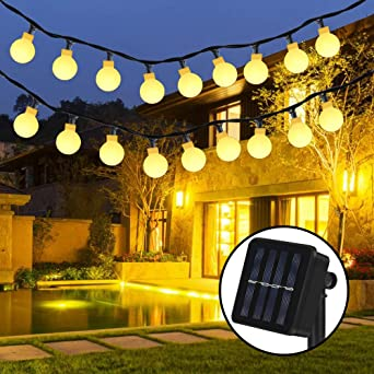 Solar Lichterkette Nasharia 30er Led Solar Lichterkette 8 Modi Ip65
