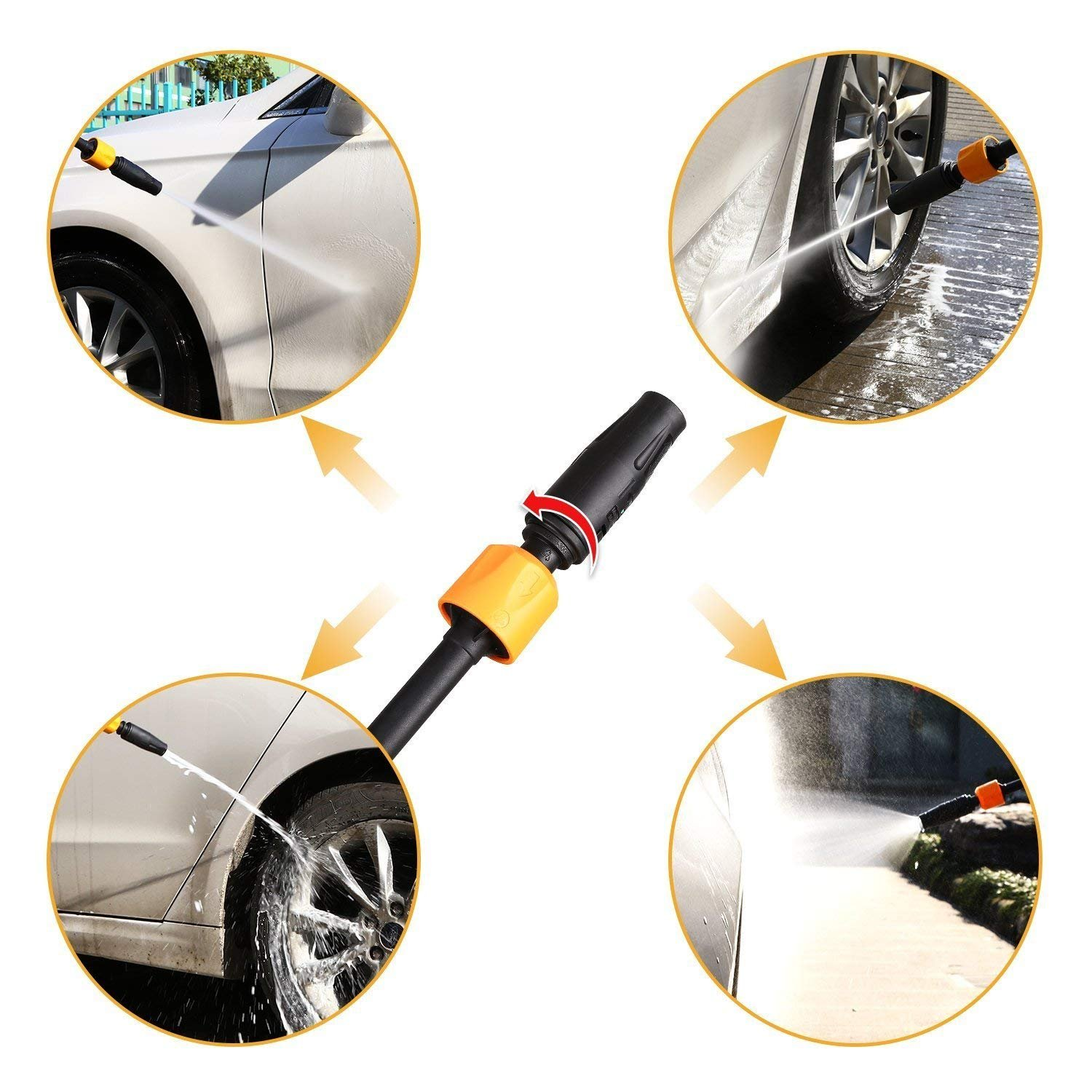 DEKO 2030 PSI 1.76 GPM with Electric Pressure Washer with Hose Reel,Power Hose Nozzle Gun Integrated Hose Reel,Built in Soap//Foam Dispenser