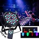 Luci Palco, AONCO Par LED Luce di Discoteca Fari da Palco RGB 36LED Canale DMX512 fase luci a sfera di Festival Bar KTV Club Party Outdoor e più (con 2 telecomando)