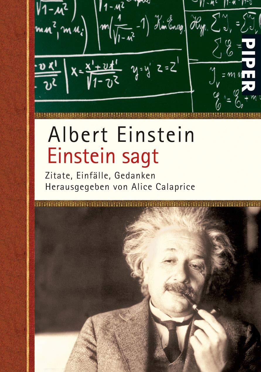 Einstein Sagt  Zitate Einfälle Gedanken