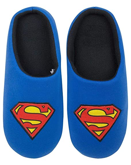 600f459ba180 Superman DC Comics Men s Slippers (41) Blue
